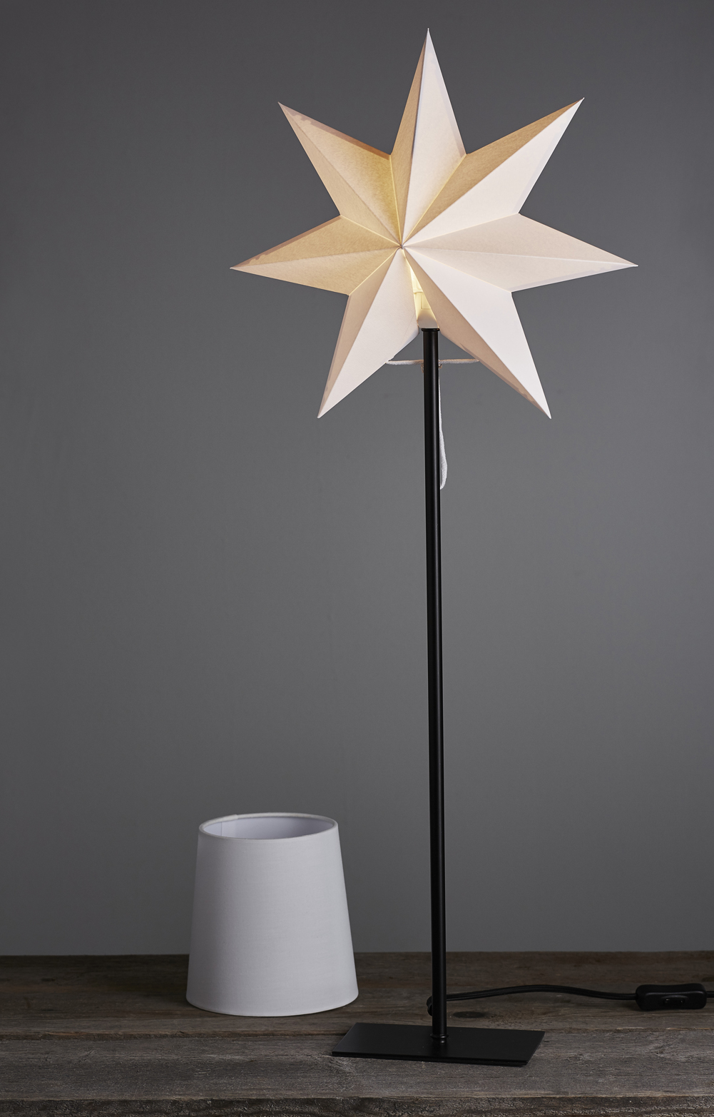 Tischlampe 2 In 1 Lampenschirm Und Stern Creme Lampe Stehlampe Schwarz Ebay