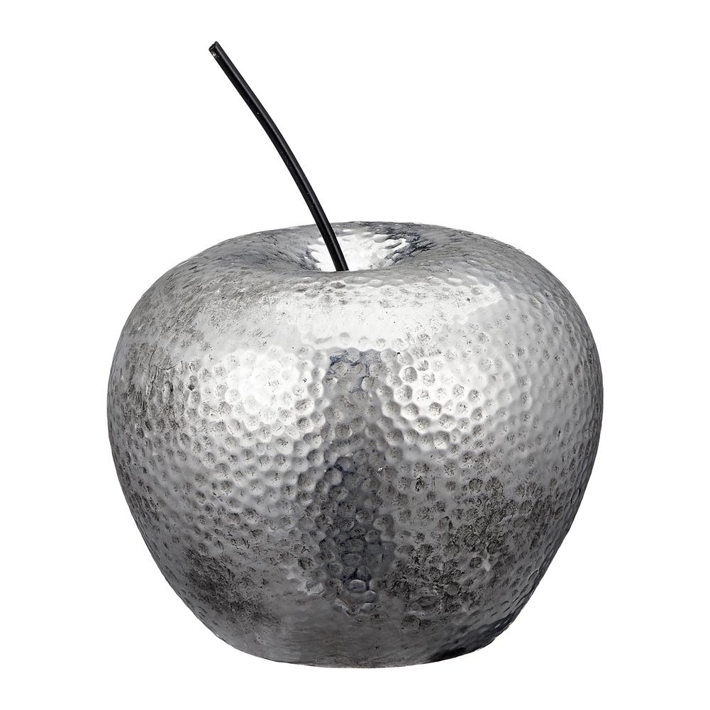 Apfel-Hammerschlag-B-WARE-10-15-cm-Keramik-silber-glaenzend-Deko-II-Wahl Indexbild 4